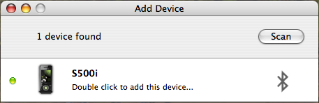 Double click to add this device...